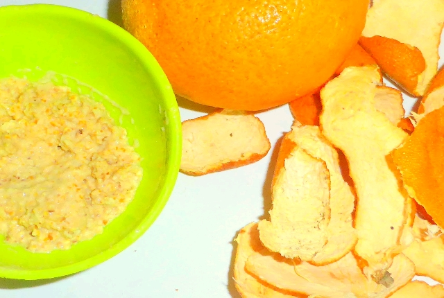 Orange peel avocado honey mask