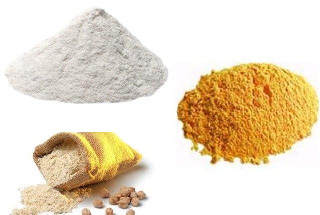 Rice Flour Chick Pea Flour And Lentil Flour