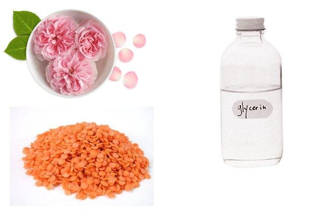 Rose Water Glycerin Lentil