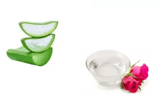 Aloe Vera And Rose Water Face Mask
