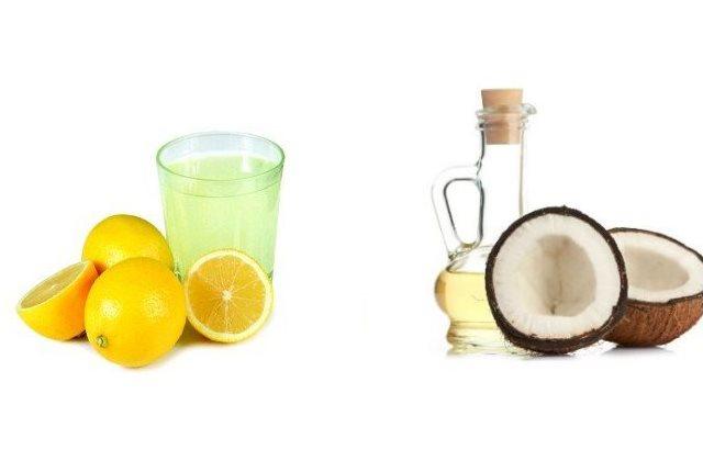Apply coconut Oil and Lemon Juice