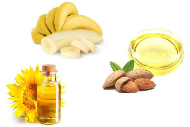 Banana, Vitamin E Oil, And Almond Oil