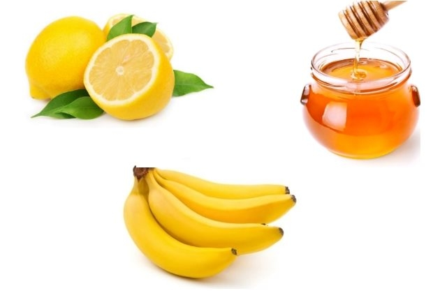 Banana honey lemon juice pack