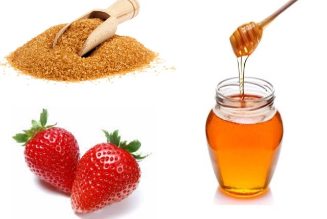 Brown Sugar, Honey and Strawberry Face Pack