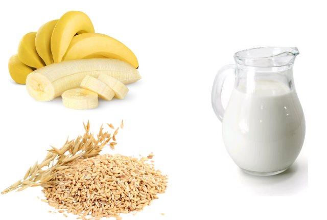 Oats, Milk and Banana