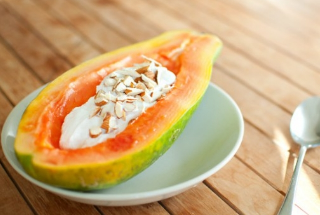 Papaya, Yogurt Mask For Dull Skin
