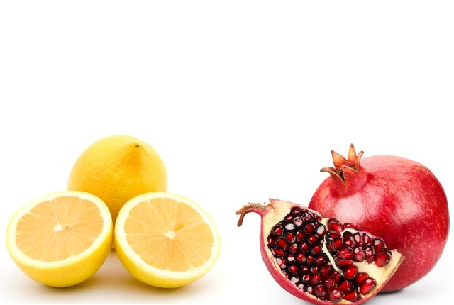 Use Lemon Juice And Dry Pomegranate Peel Powder