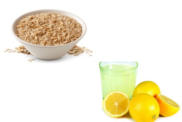 Use Oatmeal With Lemon Juice