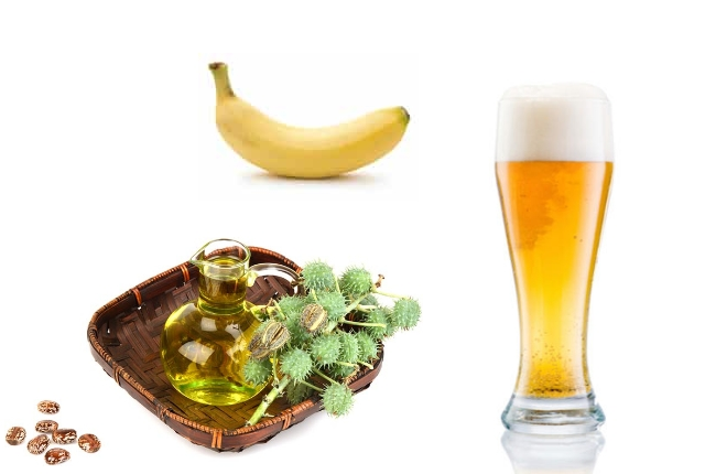 Castor Oil, Banana And Beer Mask