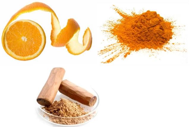 Orange Peel, Sandalwood Powder Mask