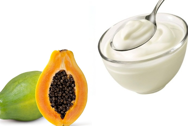 Papaya yogurt mask