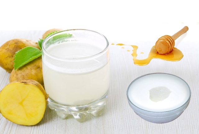 Potato Juice, Honey And Milk Mask