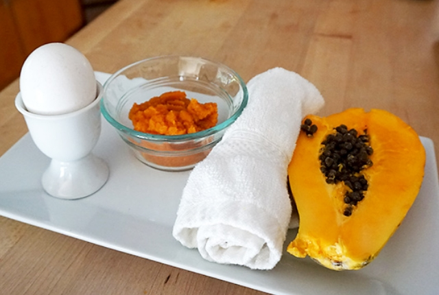 Pumpkin, Papaya And Egg Mask