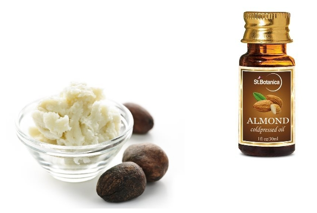 Shea butter and almond oil
