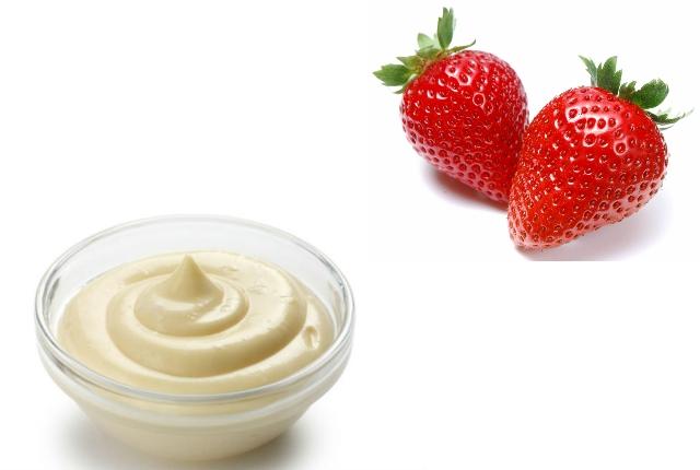 Strawberry mayonnaise mask