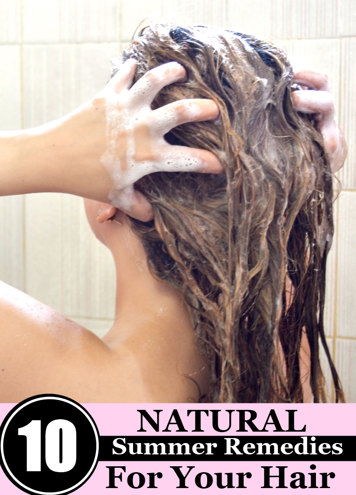 10 Natural Summer Remedies For Your Hair