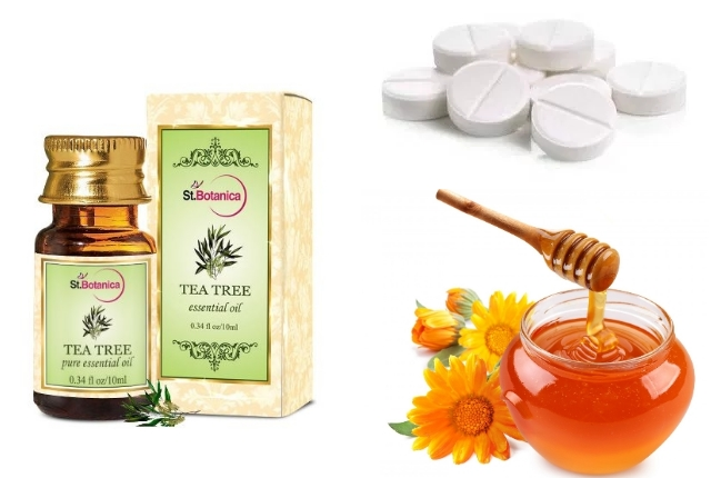 Honey and Aspirin Face Mask with Tea Tree Oil