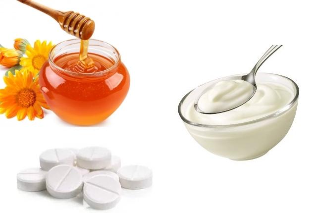 Honey and Aspirin Face Mask with Yogurt