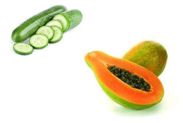 Cucumber And Papaya Face Mask