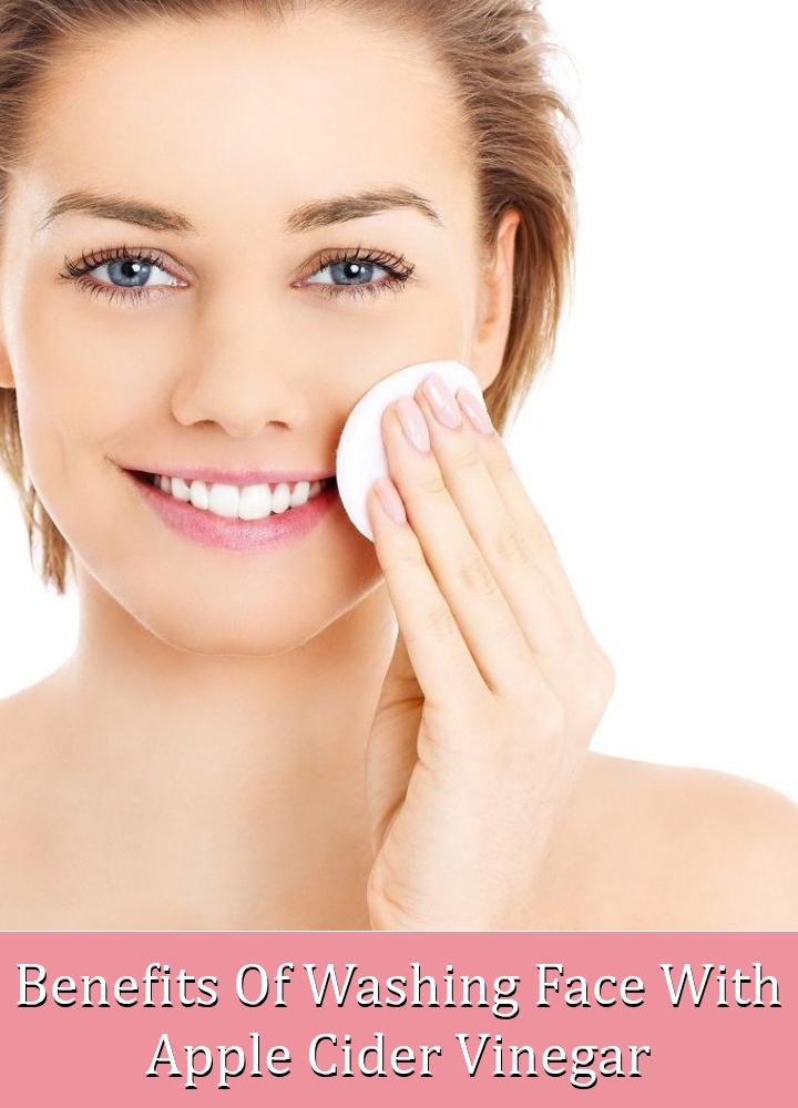 Washing Face With Apple Cider Vinegar