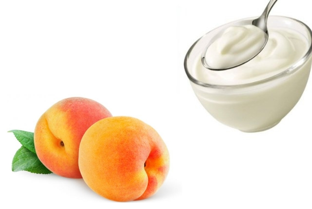 Yogurt and Peach
