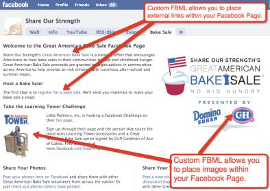 Using Facebook Markup Language