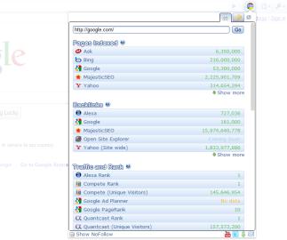 Chrome SEO Screenshot