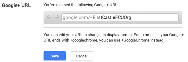 edit your Google Plus vanity URL