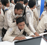 Image of Indonesian Students Using a Laptop
