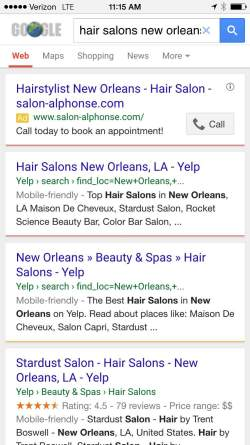 Yelp Mobile Screenshot Image - Search Influence