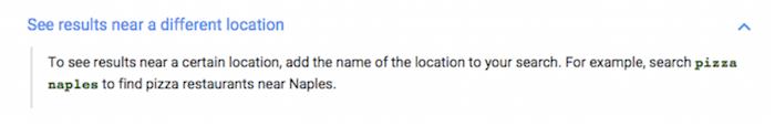 Google Drops Location Search, Screenshot Image