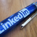 LinkedIn pen resting on desk - Search Influence