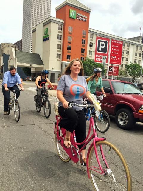 Influencers Biking to Work