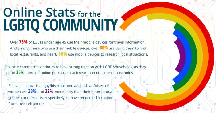 Online Engagement LGBTQ Statistics Mini Infographic - Search Influence