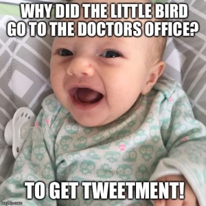 Image Of Baby Making A Joke About Doctors - Search Influence