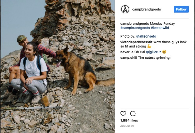 Campbrand Goods Instagram screenshot