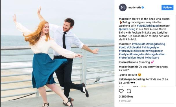 ModCloth Instagram screenshot