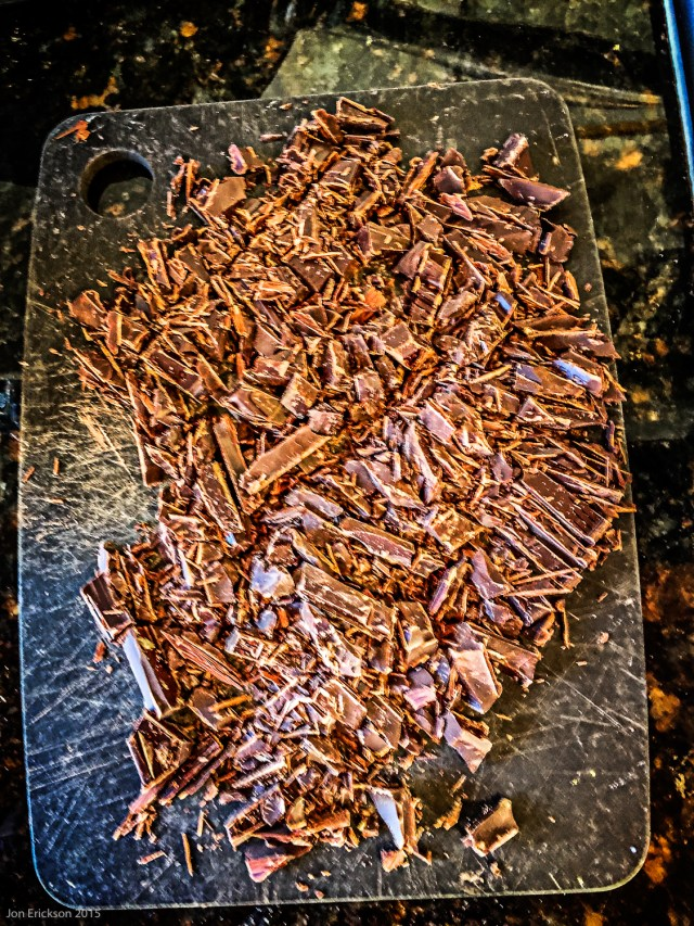 Use the best quality chocolate and finely chop it.