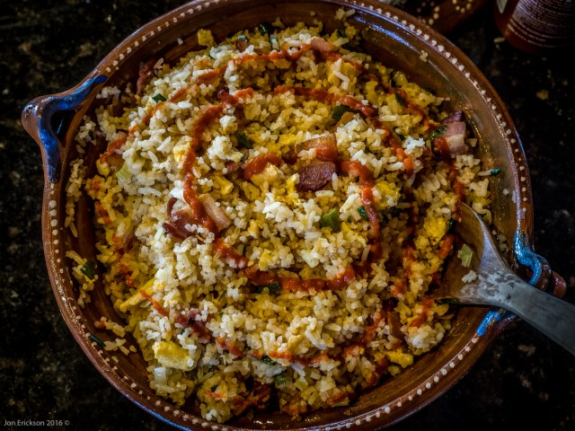 Bacon-Cilantro Fried Rice