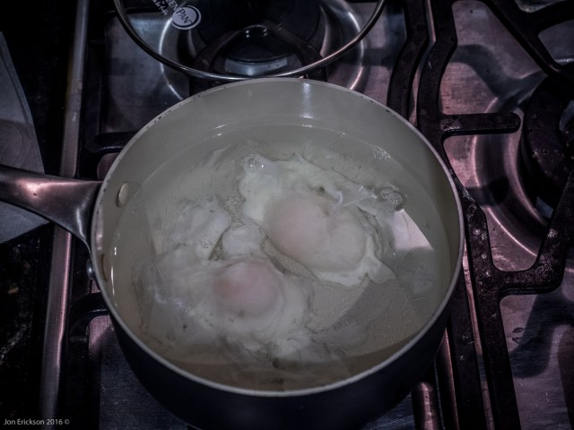 Poaching the eggs
