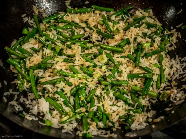 Rice with the green beans