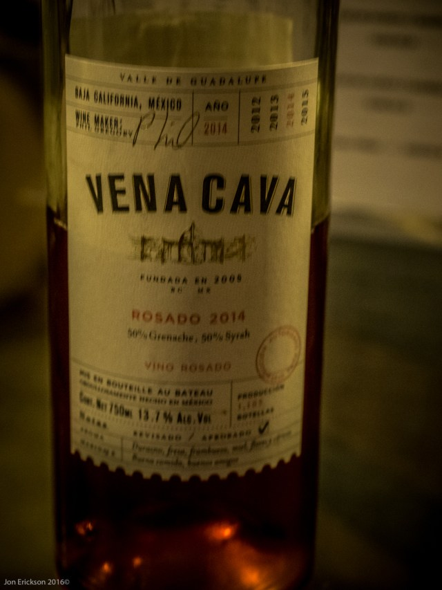 The Vena Cava Rosado 2014 was a very unique blend for a Rosado.