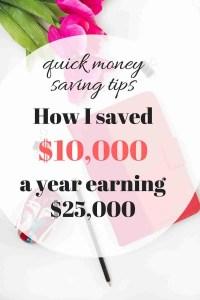 quick money saving tips pinterest