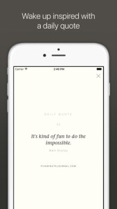 5 minute journal app
