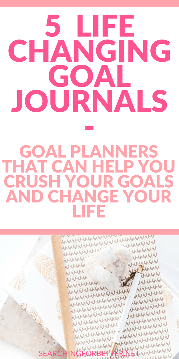 5 #Amazing #Journals For Your #Goals. These goal #planners are great #organizers that can keep track of your yearly, weekly & daily goals. They all have great #layouts and #templates to help you break down your #life goals and self reflect! #planner #planneraddict #goalsetting #motivation #organization