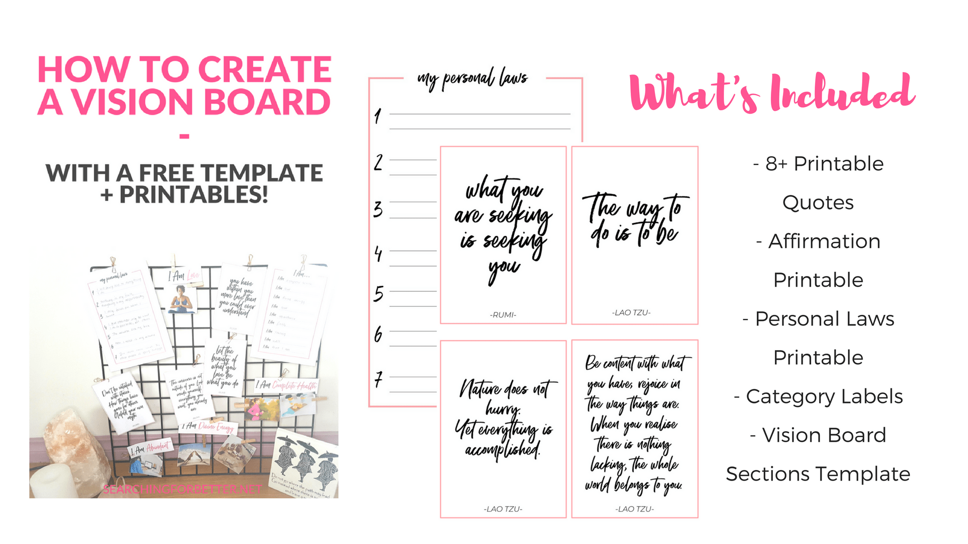 Creating A Vision Board With Free Template