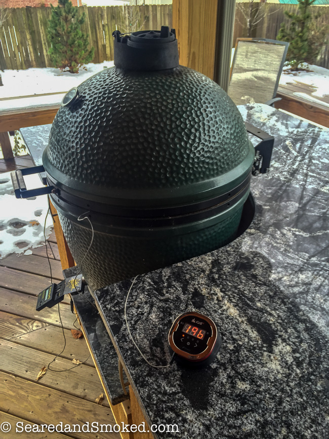 smoking a whole brisket on the big green egg