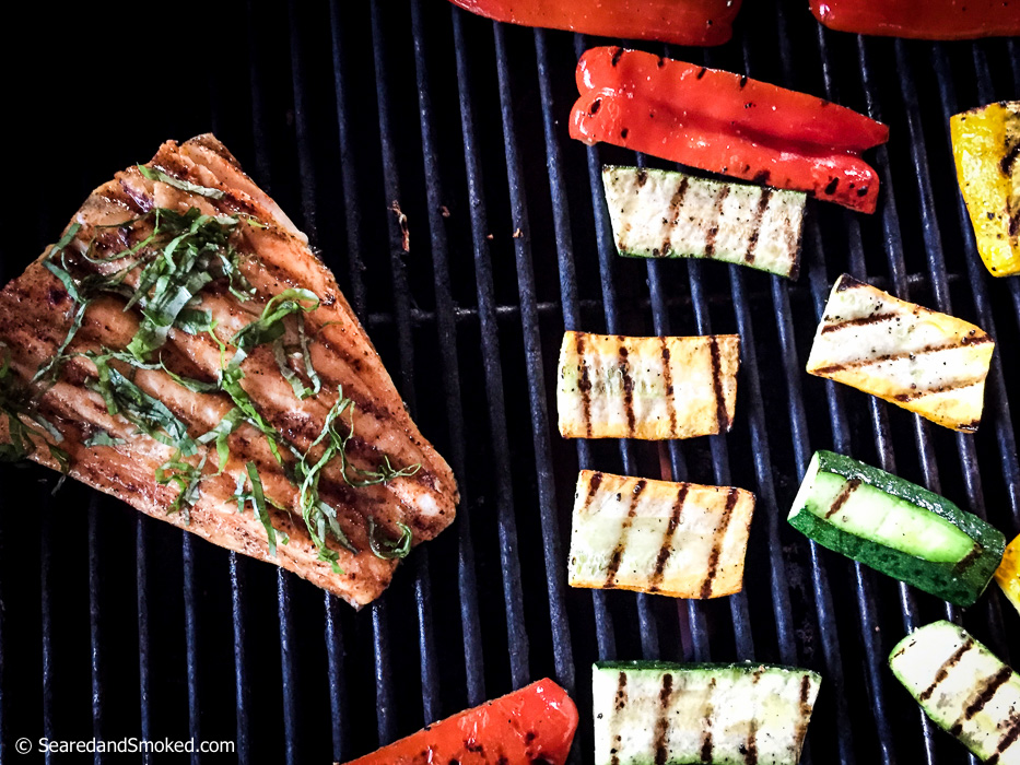 buttery basil grilled halibut
