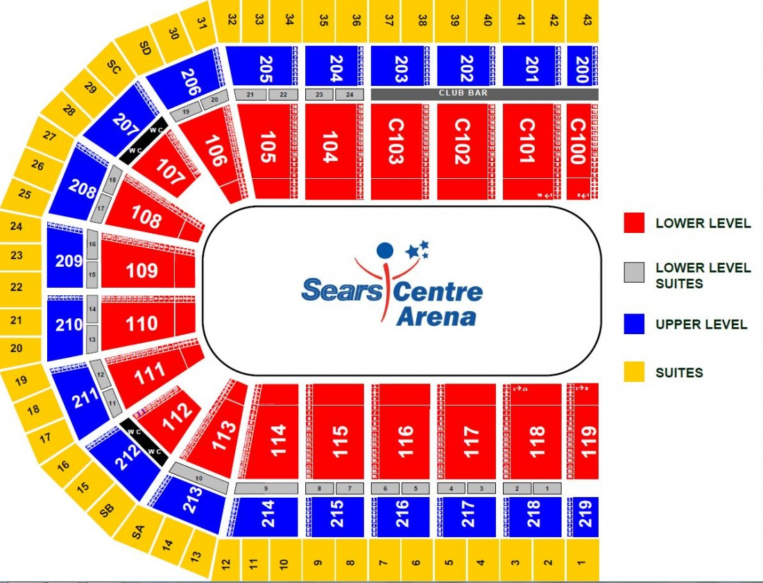 Image result for sears centre arena