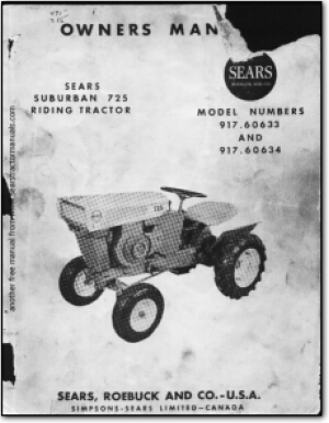 Sears Tractor manuals